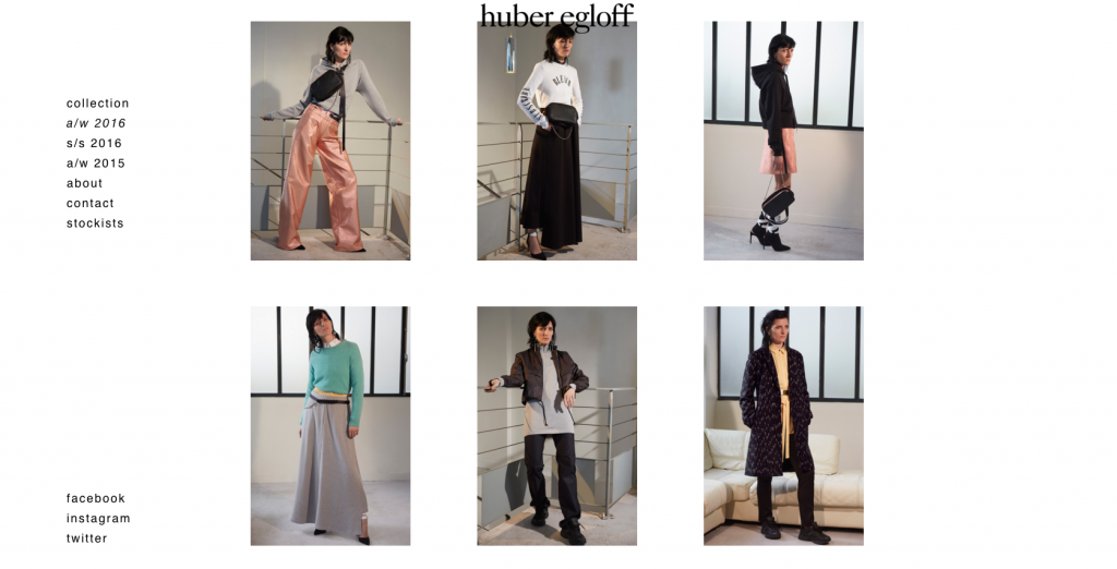©huber egloff website a/w 2016 Collection