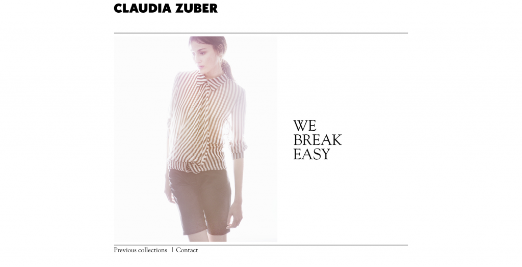 Claudia Zuber screenshot website
